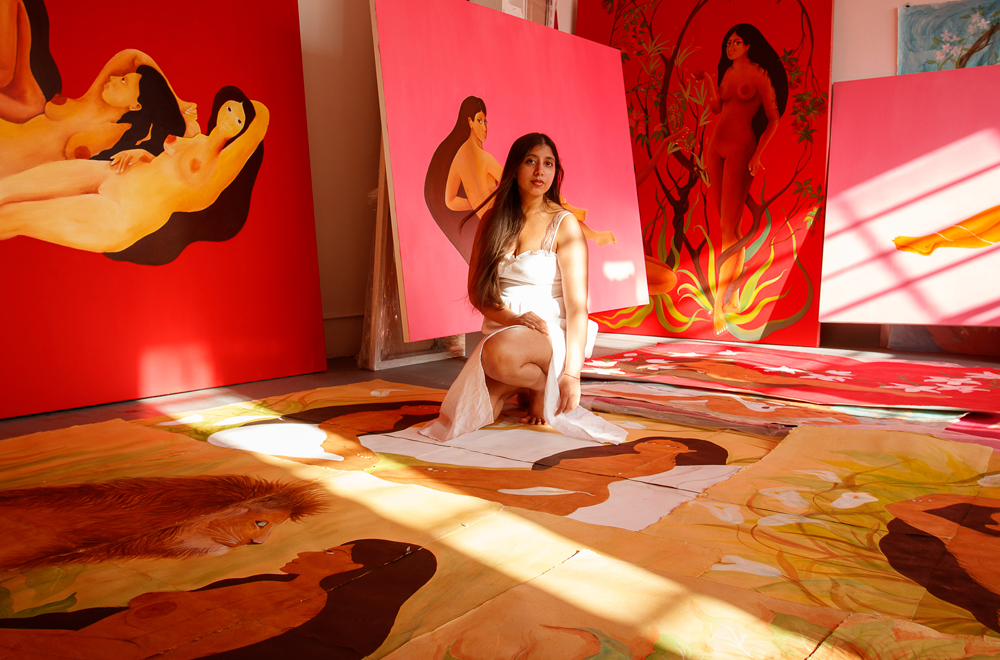 Hiba Schahbaz talks setting intentions, finding inner stability, and staying true to your artistic values.